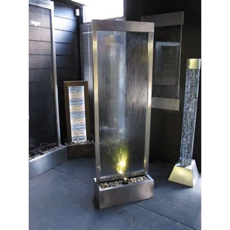 glass water feature glass wall water feature w steel frame 600x1830mm buy garden fountains