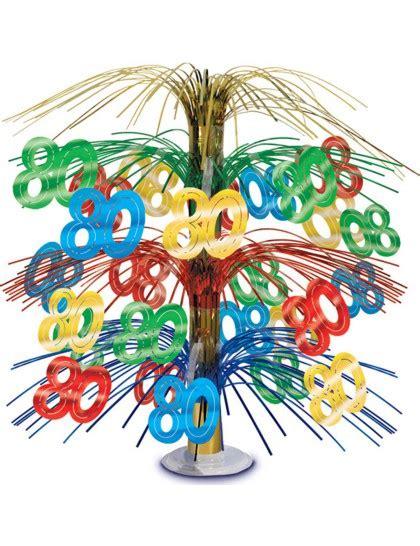 deco anniversaire 80 ans centre de table anniversaire 80 ans multicolore mister
