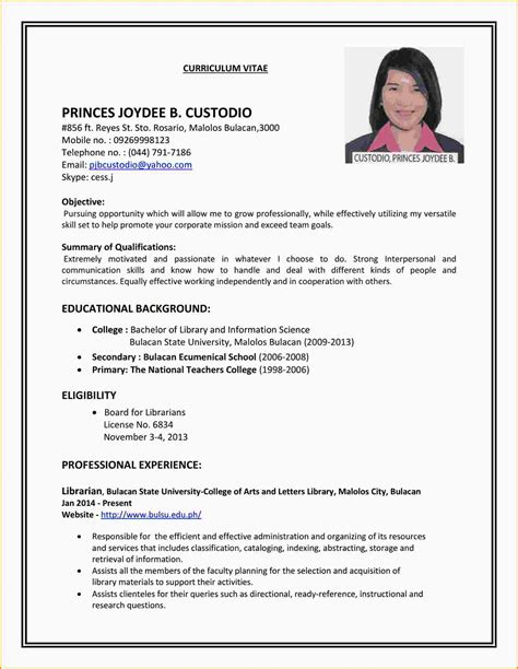 Part Time Resume by 8 Resume For Part Time College Student Paradochart