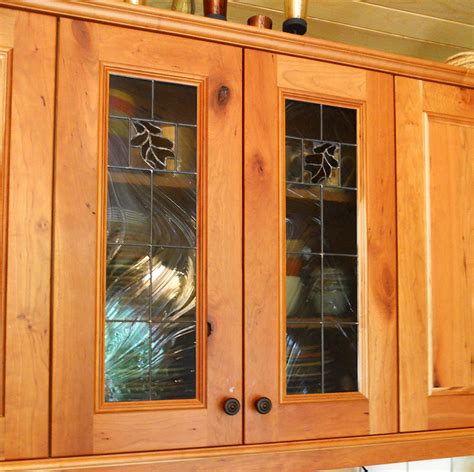 northern light oak leaf cabinet doors