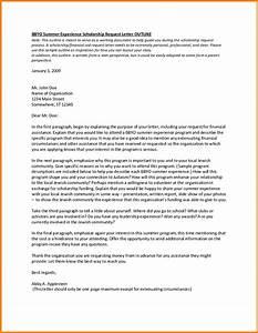 6+ letter applying for scholarship ledger paper