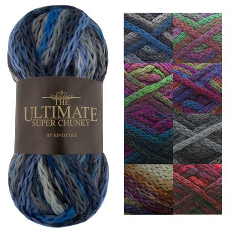 acrylic yarn king cole 100g ball ultimate super chunky knitting yarn soft acrylic wool mix ebay
