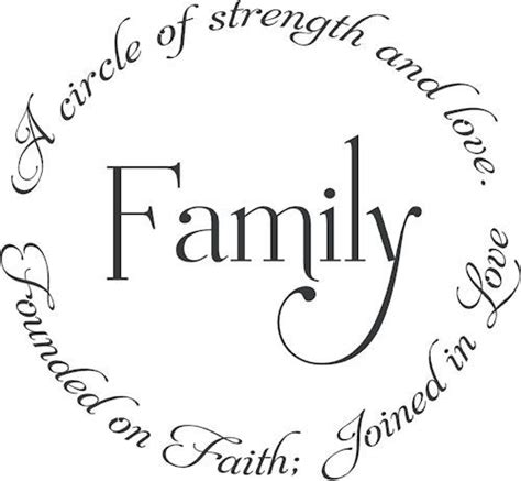 family founded faith joined love wall decal word design  adhesive vinyl