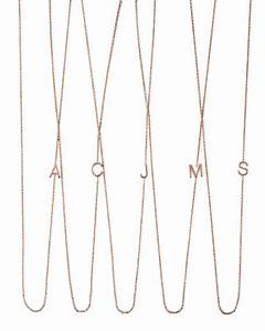 maya brenner designs 14k rose gold mini letter necklace With rose gold letter pendant necklace