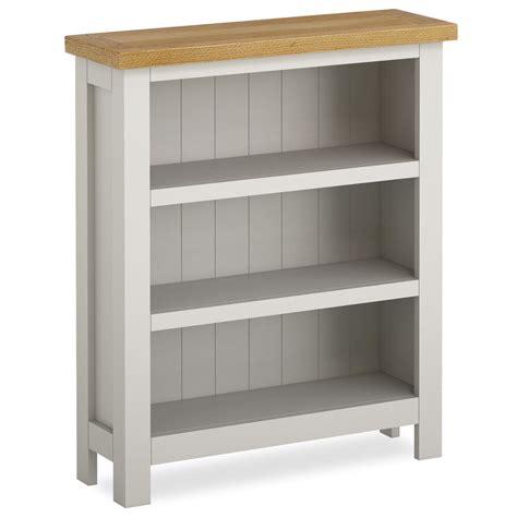 farrow painted small bookcase narrow stone grey painted