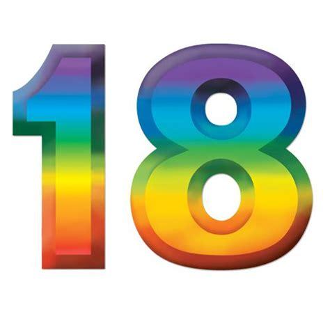 """Plastic Number """"18"""" 3D Decoration - 11"""" - Party Packs"""