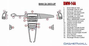 Bmw Z4 03 04 05 06 07 08 Dash Trim Kit Style 2004