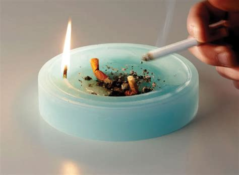 ash tray candle alternative to traditional ashing