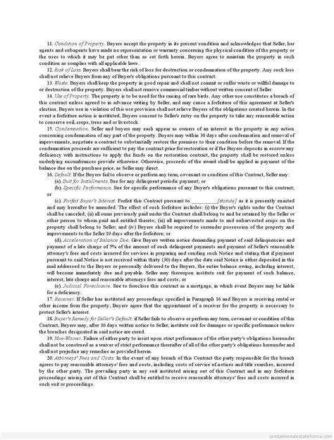 installment land contract form free installment land contract form printable real