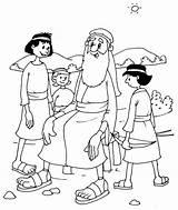 Ham Coloring Shem Bible Children Genesis sketch template