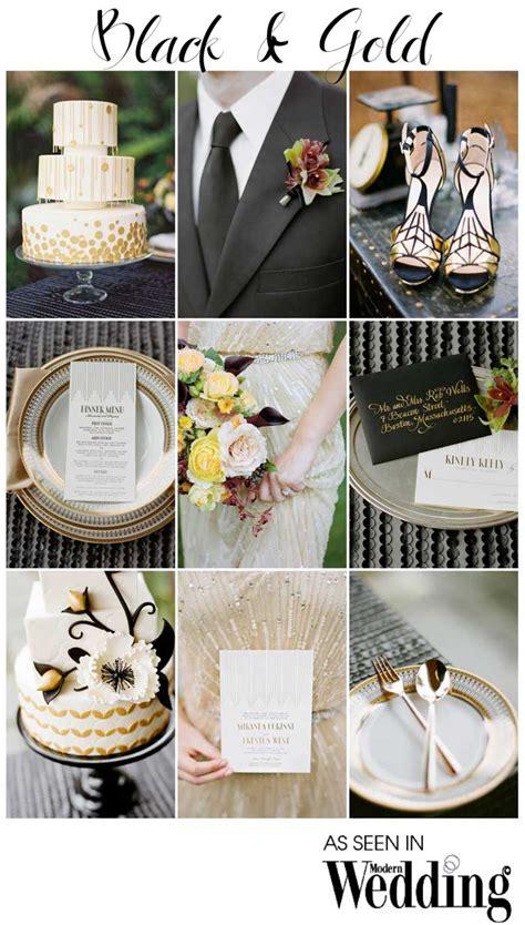black gold wedding theme modern wedding
