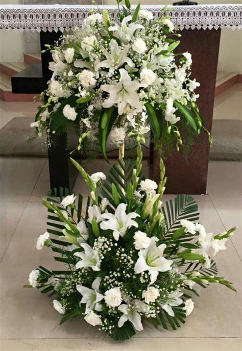 flower arrangement church images  pinterest