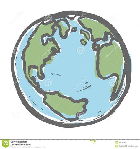 drawn cartoon earth pencil   color drawn cartoon earth
