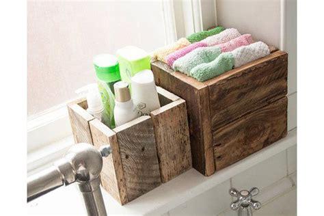 rustic wooden box bundle bathroom storage garden planters