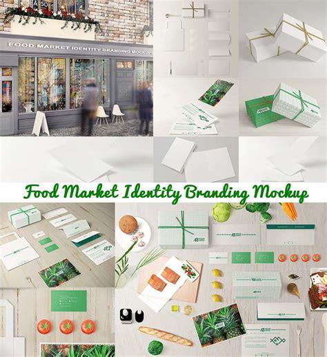 food market branding mockup
