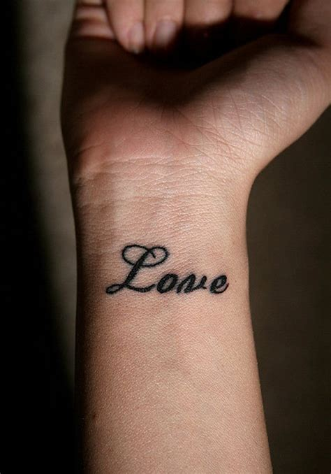 love tattoos  wrists
