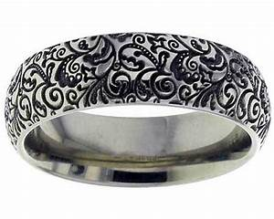 paisley pattern titanium ring love2have in the uk With paisley wedding ring