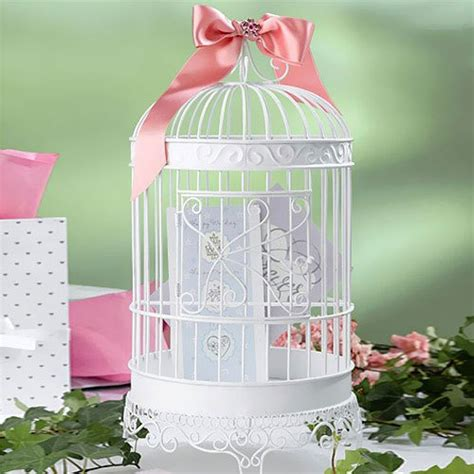 white bird cages for weddings white wedding bird cage card holder