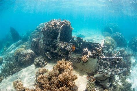 ghostly ocean floor graveyard  hundreds  ships