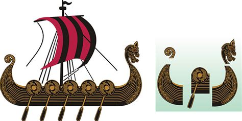 Parts Of A Longboat by Extendable Viking Longship Kit Viking Stencil Design From
