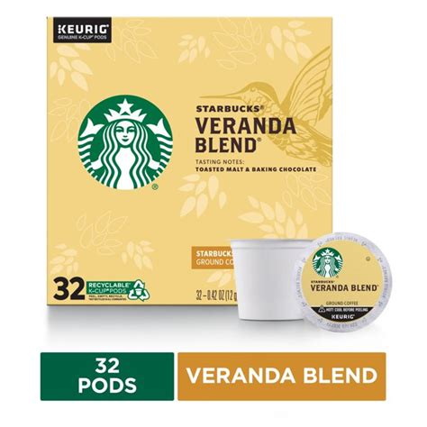 Subtle with delicate nuances of soft cocoa and lightly toasted nuts. Starbucks Blonde Roast K-Cup Coffee Pods — Veranda Blend for Keurig Brewers — 1 box (32 pods ...
