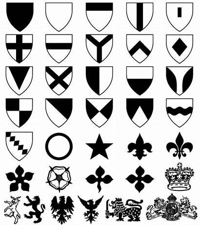 Shield Arms Shapes Coat Photoshop Heraldic Vector