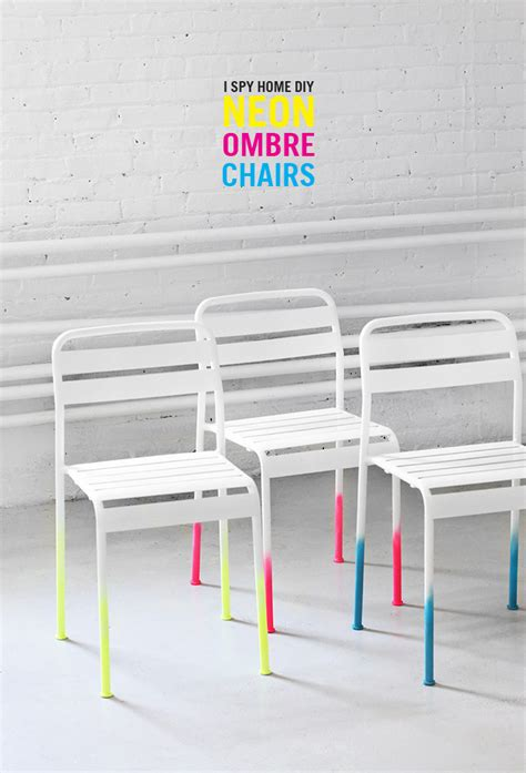 Chair Ombre by 187 My Diy Neon Ombre Chairs