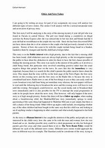 Sample Ethics Paper Critical Analysis Sample Essay Sample Medical  Example Of Ethics Research Paper Thesis In An Essay also Short English Essays For Students  Research Paper Essay Examples