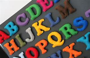 alphabet magnet madness part 2 With making felt letters