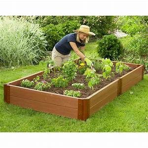 Frame-It-All 4 x 8 Recycled Resin Raised Garden Bed - 12H