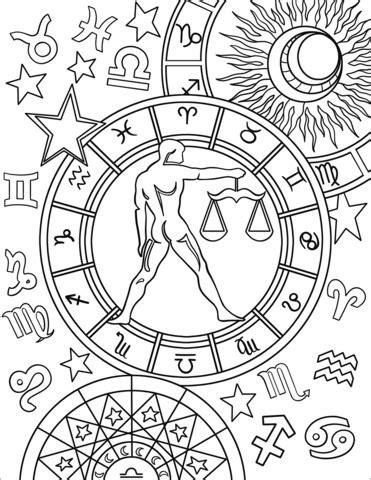 libra zodiac sign coloring page  printable coloring