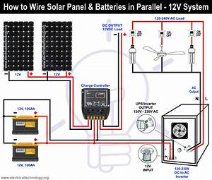 How To Wire Solar Panel  U0026 Batteries In Parallel