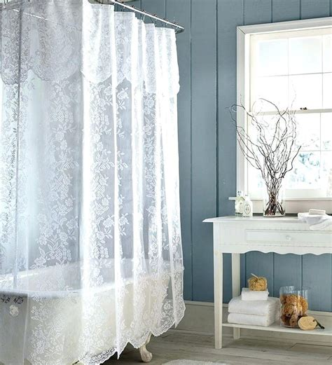 White Priscilla Curtains With Attached Valance by Lace Curtains With Attached Valance Teawing Co