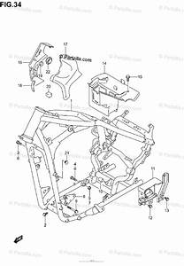 Suzuki Motorcycle 2004 Oem Parts Diagram For Frame