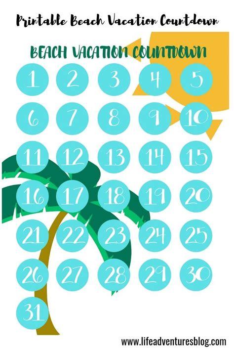 beach vacation countdown calendar    beach