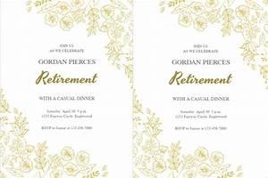 Retirement Party Program Template 34 Sample Invitation Templates Psd Ai Free Premium