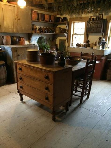 the primitive kitchen and islands on