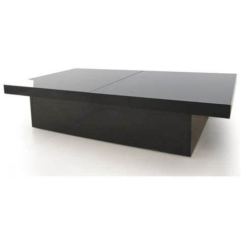 table basse bar noir table basse style contemporain noir brillant plateaux coulissants l 110 224 142 cm