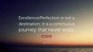 "Brian Tracy Quote: ""Excellence/Perfection is not a ..."