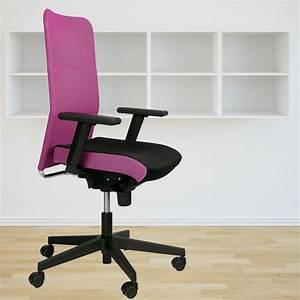 Chaise Bureau Rose : chaise de bureau pivotante rose fauteuil roulant accoudoirs cabinet travail ~ Teatrodelosmanantiales.com Idées de Décoration