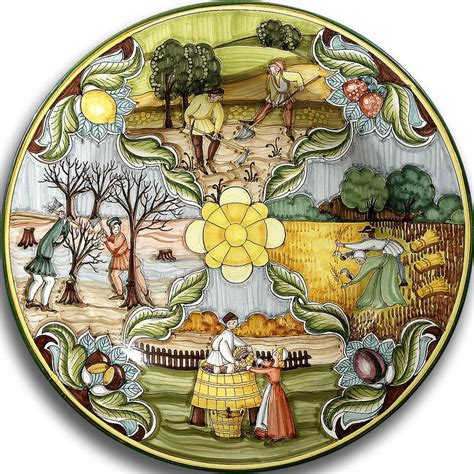 tuscan decorative wall plates intrada italy small wall plate with four seasons 16 quot d