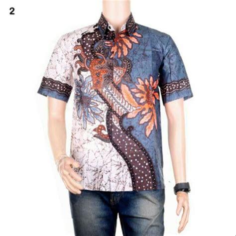 jual baju atasan lengan panjang pria kemeja hem batik cowok formal elegan modern riyan warna 4