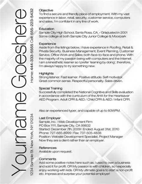 Amazing Cv Templates by The 10 Most Amazing Resume Templates For Recent Grads