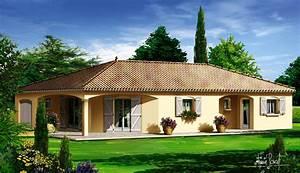 plan du modele mc3 maison de plain pied la maison des With good modele de maison en l 7 de maison neuve moderne construction