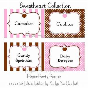 best photos of free printable candy label templates With buffet food labels templates