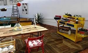 Küche Aus Europaletten : terrasse outdoor k che europaletten gebaut gelb streichen pallet meubels zelf maken ~ Whattoseeinmadrid.com Haus und Dekorationen