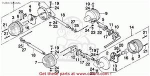 Honda Mt250 Elsinore 1974 K0 Usa Turn Signal