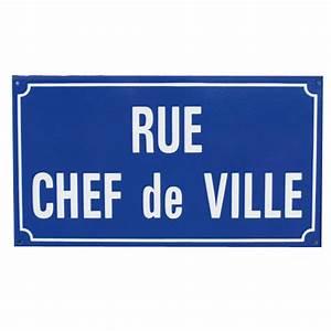 Plaque De Rue Personnalisée Extérieur : fabricant de plaques de rue en mail 4 coloris doublet ~ Dode.kayakingforconservation.com Idées de Décoration