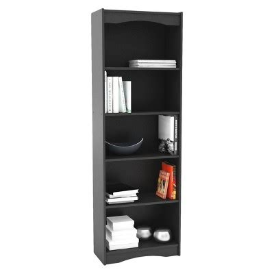Target Bookcase Black by Hawthorn 72 Quot Bookcase Midnight Black Corliving
