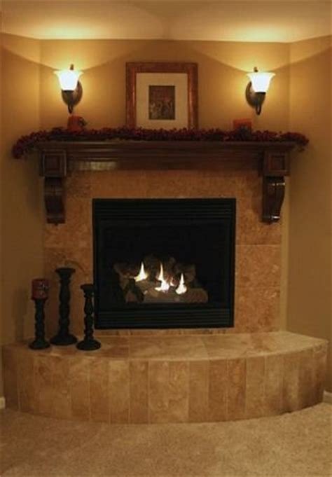 luxury decorated corner electric fireplace tile massive